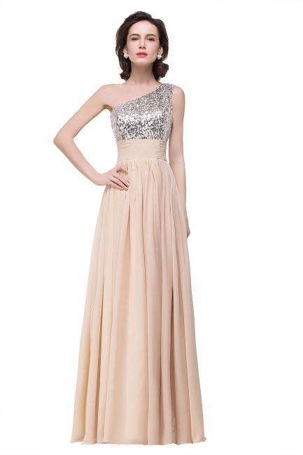 Evening dresses long glitter | Simple evening wear online