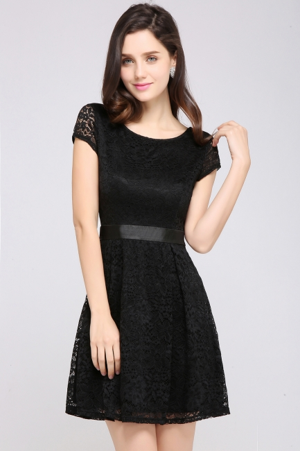 Designer evening dresses short | Cocktail dresses black
