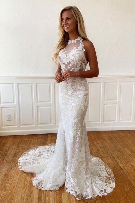 Elegante Hochzeitskleider Mit Spitze | Brautkleider Meerjungfrau Online