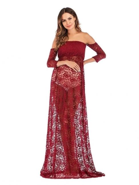 Rote Kleider für Schwangere | Schwanger Kleidung Günstig