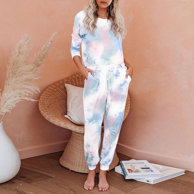Gradient Schlafanzug Damen Lang | Pyjamahose Damen 2 Teilig