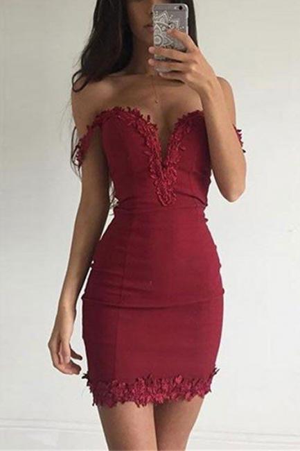 Wine Red Prom Dresses Short Prom Dresses Satin Mermaid Evening Wear