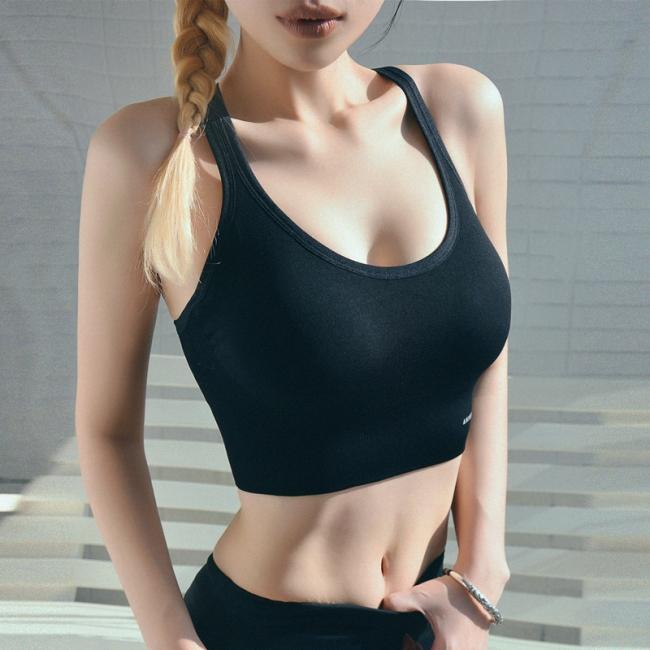 2 pack women's bustier organic cotton sports bra top top