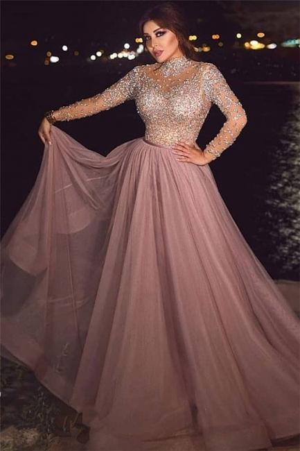 Luxus Abiballkleider Lang Glitzer | Abendkleider mit Ärmel