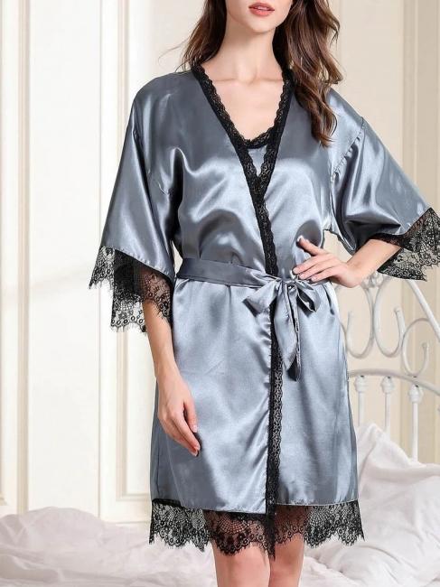 Nachtwäsche Damen Seide | Pyjama Schlafanzug Lang