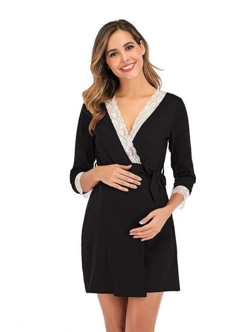 Schwarz Sommerkleider für Schwangere | Elegante Kleider Schwangere