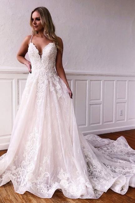 Elegant wedding dresses A line | Lace Wedding Dresses Cheap Online