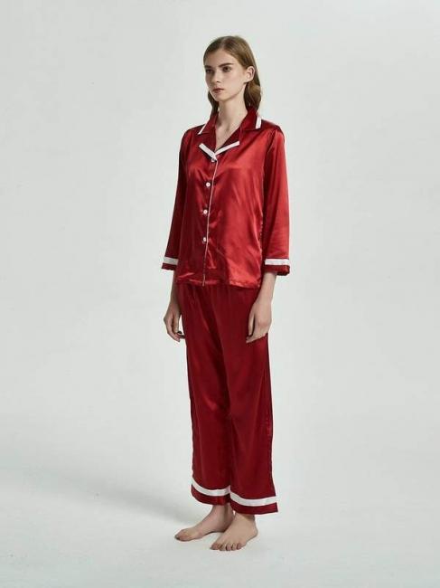2 pieces red nightwear women elegant | Schiesser pajamas