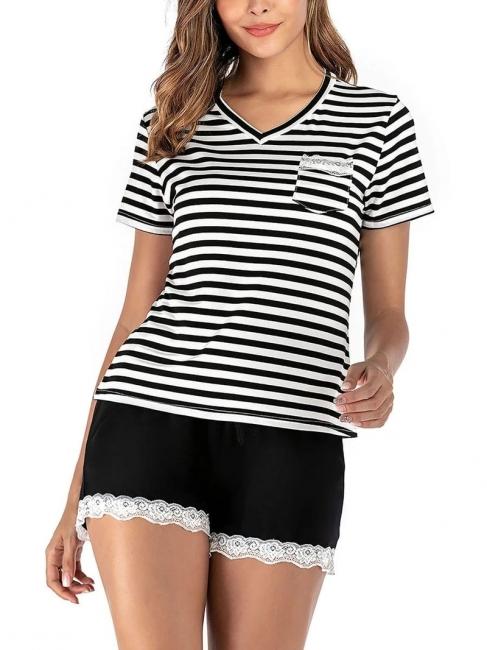 Pyjama Schlafanzug Damen | 2 Teillige Nachtwäsche Online