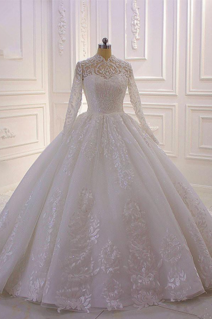 Designer wedding dresses A line | Wedding dresses lace sleeves online
