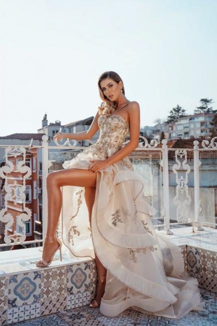 Luxus Abendkleider Lang Günstig | Abiballkleider mit Glitzer