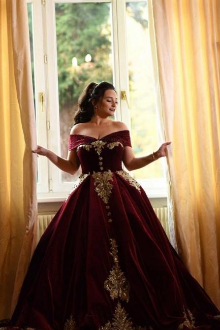 Weinrot Abendkleider Lang Mit Spitze | Abiballkleider Prinzessin Online