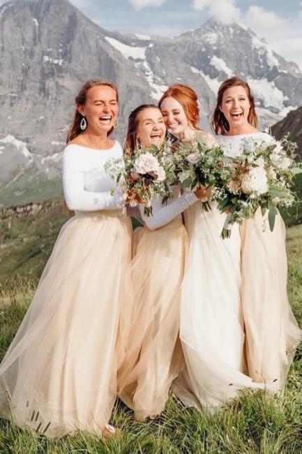 Elegante Brautjungfernkleider Lang Günstig | Kleider für Brautjungfern Online