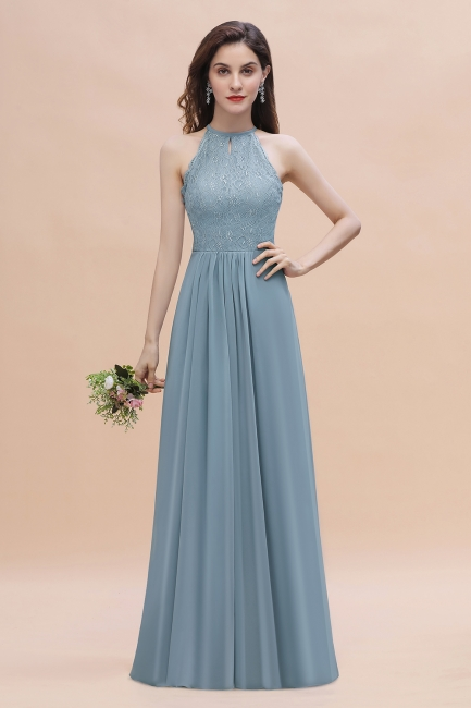 Designer Bruatjungfernkleider Steel Blau   Chiffon Kleider Für Brautjungfern