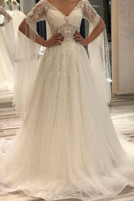 Designer wedding dresses with sleeves | Wedding dresses a line online