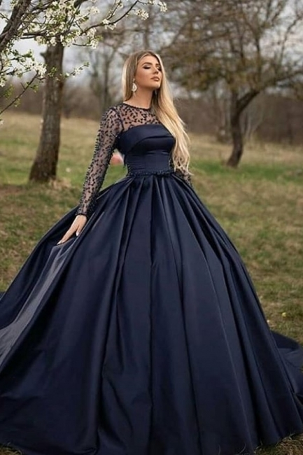 Princess evening dresses with sleeves | Buy evening wear online
