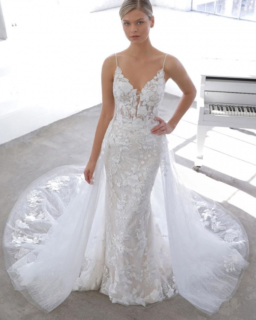 Designer wedding dress A line | Lace Wedding Dresses Cheap Online