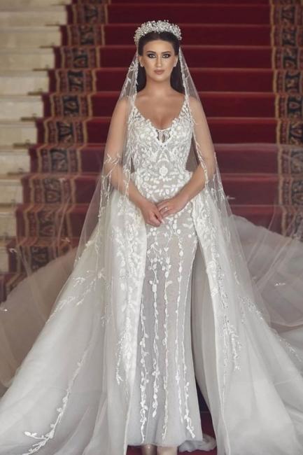 Luxus Hochzeitskleider A Linie | Brautmoden mit Spitze Online