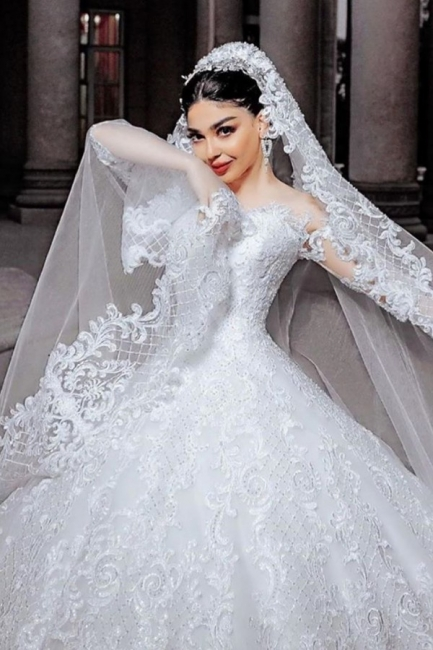 Hochzeitskleider Prinzessin Online | Brautkleider Mit Ärmel