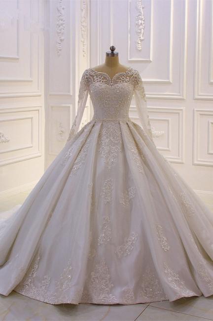 Brautkleider Mit Ärmel | Hochzeitskleider A Linie Spitze