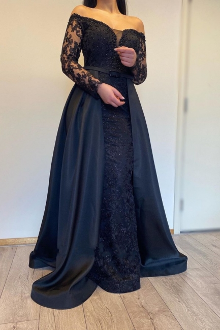 Evening dresses long with sleeves | Evening dress black