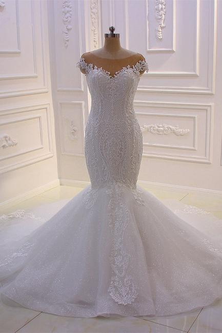 Designer Hochzeitskleider Meerjungfrau   Brautkleider mit Spitze