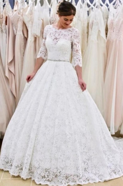 Modern wedding dresses with sleeves | Buy lace wedding dress online
