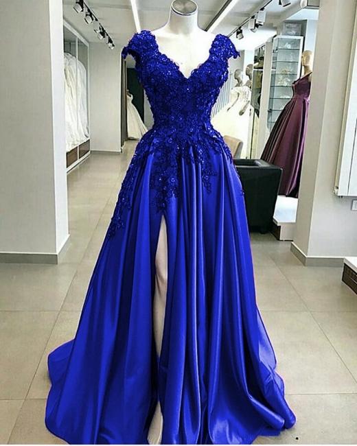 Designer Abendkleider Blau | Abiballkleider Lang Günstig Online