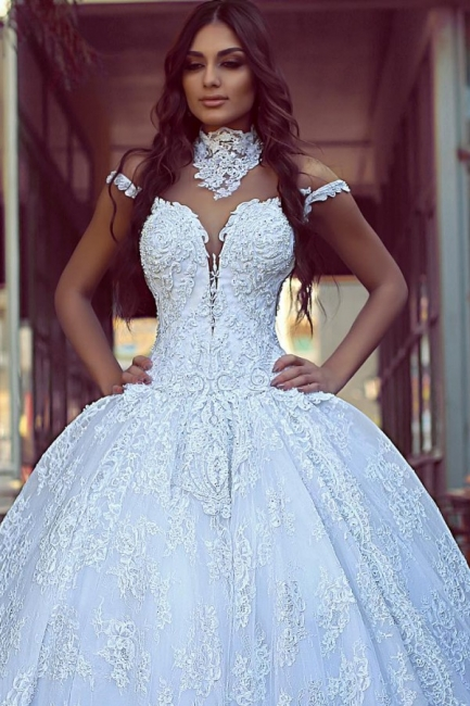 Elegant wedding dresses with lace | Wedding dresses princess online