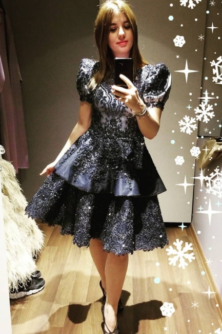 Black Cocktail Dresses Short | Evening dresses with lace online