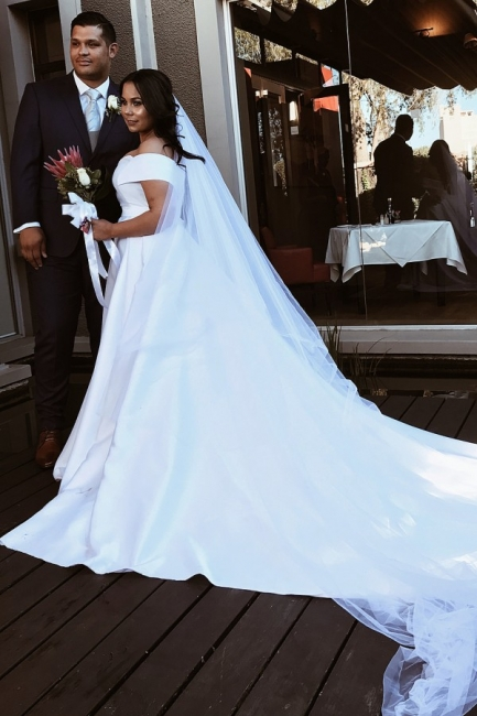 Elegant Wedding Dresses Plain | Wedding Dress A Line Online