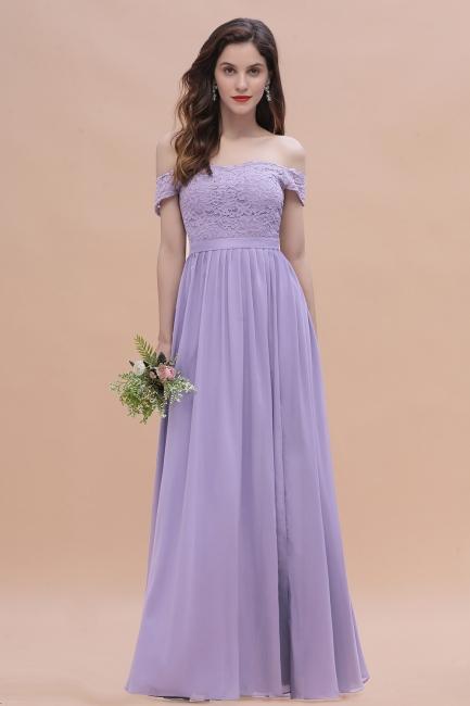 Brautjungfernkleider Lang Lavender | Hochzeitsgäste Partykleider Günstig