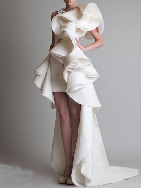 Elegante Brautkleider Günstig | Etuikleider Hochzeitskleider Kurz Vorne Lang Hinter