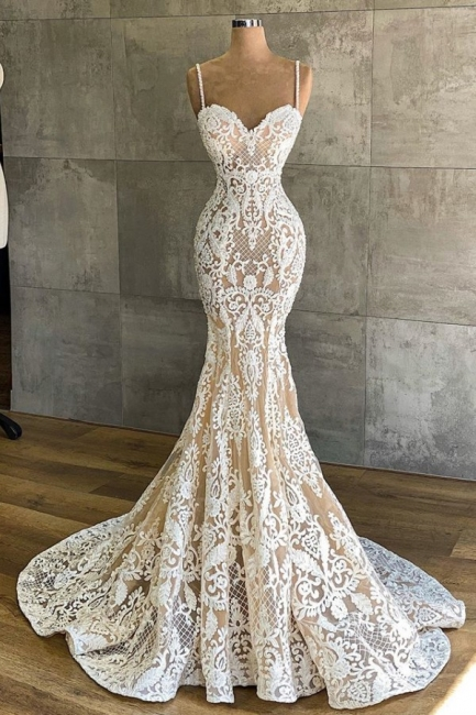Designer wedding dress mermaid | Wedding dresses with lace