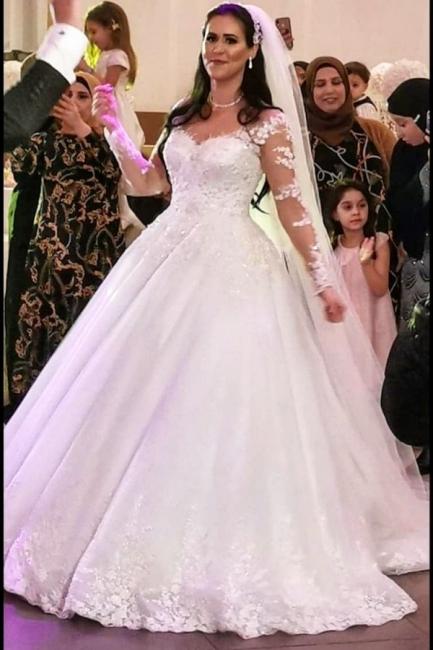 Elegant wedding dresses princess   Wedding dresses with lace sleeves