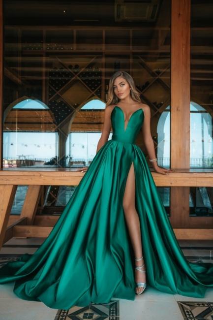 Elegant evening dress green | Evening dresses long cheap online