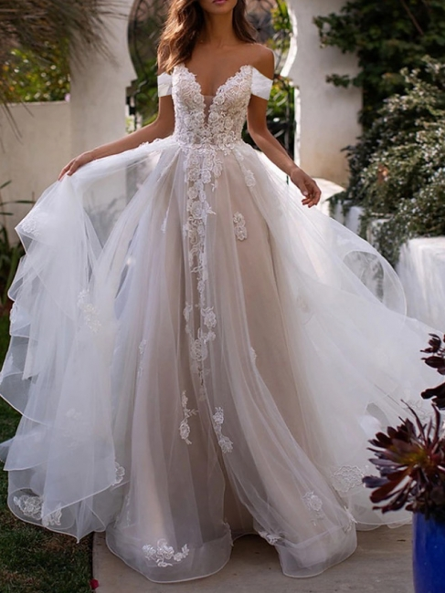 Elegant wedding dresses with lace | Tulle sheath dresses cheap online