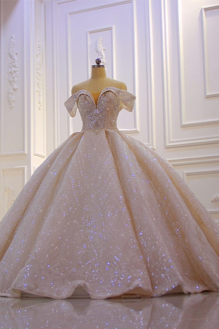 Extravagant wedding dresses princess | Wedding dresses with glitter