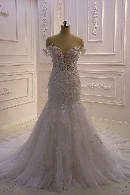 Brautkleider Meerjungfrau Spitze   Hochzeitskleider Günstig Kaufen