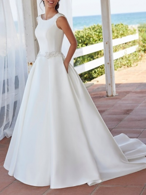 Schlichte Brautkleid A linie | Wunderschöne Hochzeitskleid Günstig Online