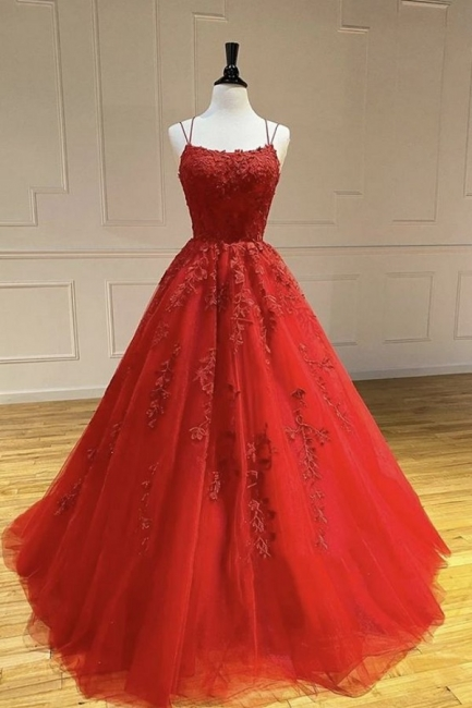 Beautiful evening dresses long red | Evening wear with lace online
