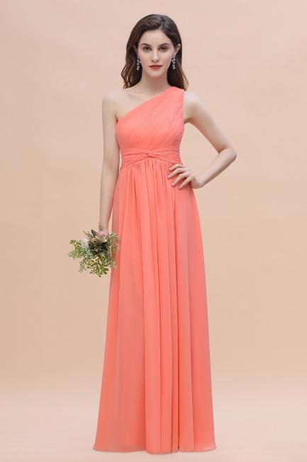 Brautjungfernkleider Lang Koralle   Hochzeitsgäste Kleider Günstig Online