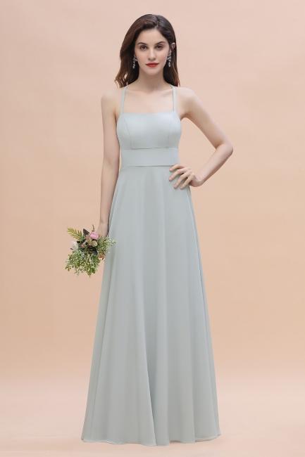 Silber Kleider für Bruatjungfern   Brautjungfernkleider Lang Günstig