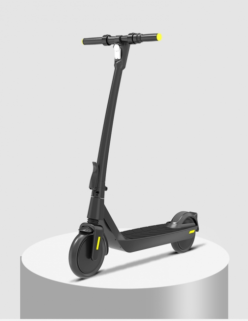 E-Scooter Foldable Electric Scooter Speed Adults up to 20 Km / h 8.5 Inch Inflatable LCD Display Portable Front and Rear Taillights (Black)