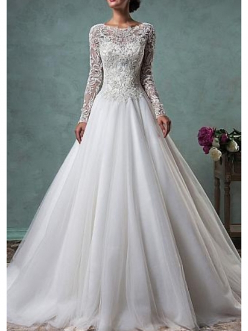 Wedding dresses A line | Gorgeous wedding dresses lace sleeves