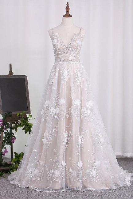 Elegant wedding dresses A line lace | Cheap wedding dresses