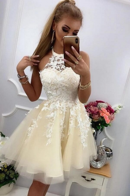 Chic cocktail dresses with lace | Prom dresses party dresses short