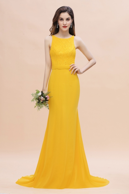 Schöne Brautjungfernkleider Gelb | Günstige Hochzeitspartykleider Online
