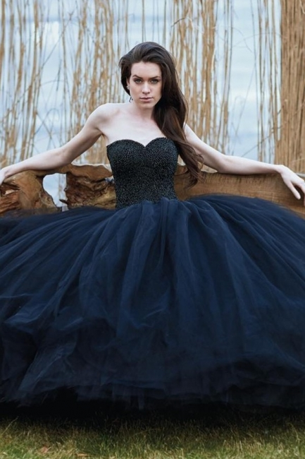 Schwarzes Brautkleid Prinzessin | Schöne Hochzeitskleider Online