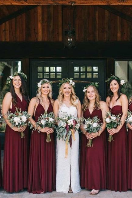 Gorgeous bridesmaid's long chiffon | White bridesmaids dresses